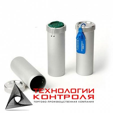 Пенал алюминиевый под пломбу d-40 мм, h-150 мм
